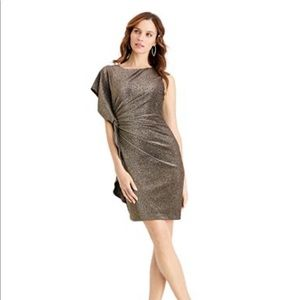Vince Camuto Metallic Gold Dress